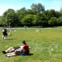 The BMYC playing Frisbee in Regents Park